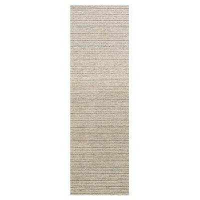 Glenn Hand-Tufted Sand Area Rug Rug Size: Runner 26 x 8