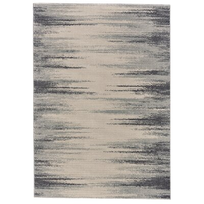 Maribelle Ivory/Charcoal Area Rug Rug Size: Rectangle 5 x 8