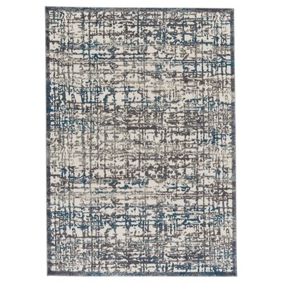 Maribelle Gray/Turquoise Area Rug Rug Size: Rectangle 10 x 132