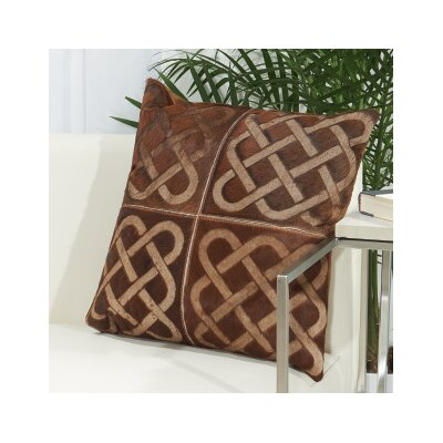 Fleta Infinity Square Leather Throw Pillow
