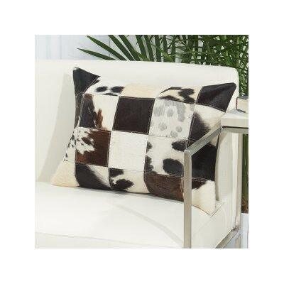 Hayes Animal Print Natural Hide Lumbar Pillow Color: Black / White
