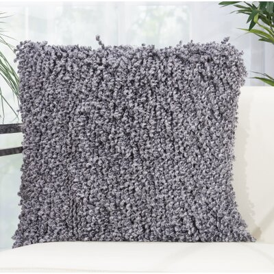 Tryston Shag Throw Pillow Color: Gray