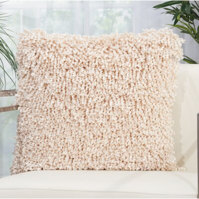 Tryston Shag Throw Pillow Color: Ivory
