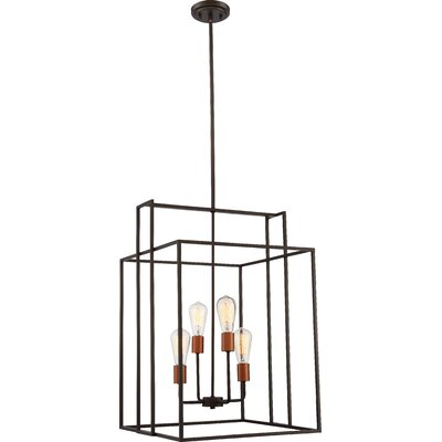 Jefferson 4-Light Geometric Pendant Finish: Bronze/Copper