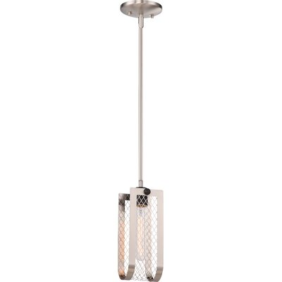 Myra 1-Light Mini Pendant Finish: Brushed Nickel/Black Accent