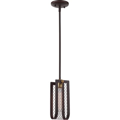 Myra 1-Light Mini Pendant Finish: Russet Bronze/Vintage Brass Accents