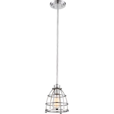 Celeste 1-Light Mini Pendant Finish: Polished Nickel, Size: 46.5 H x 7.25 W x 7.25 D