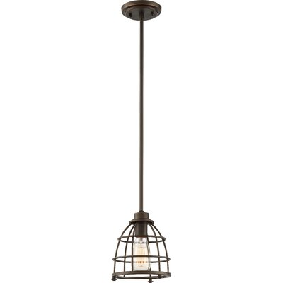 Celeste 1-Light Mini Pendant Finish: Mahogany Bronze, Size: 46.5 H x 7.25 W x 7.25 D