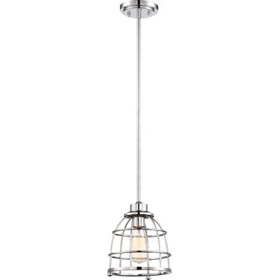 Celeste 1-Light Mini Pendant Finish: Polished Nickel, Size: 47.38 H x 8.13 W x 8.13 D