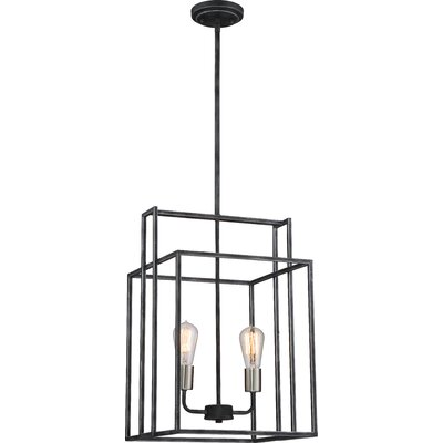 Jefferson 2-Light Foyer Pendant Finish: Iron Black/Brushed Nickel