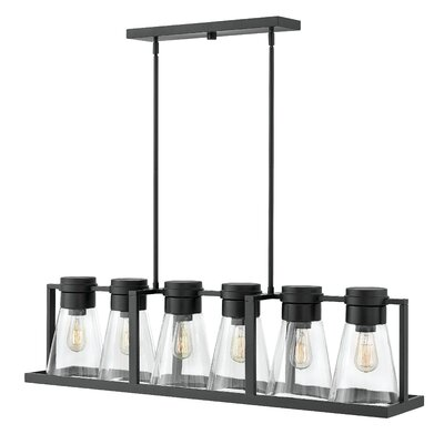 Seppe 6-Light Kitchen Island Pendant Shade Finish: Clear