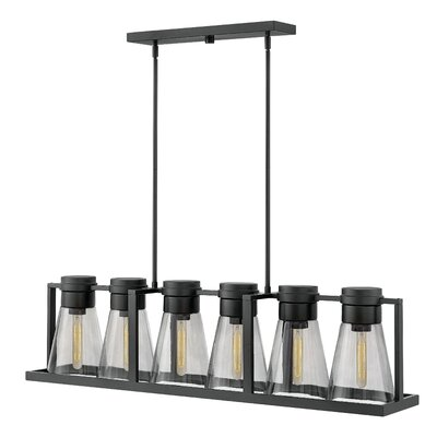 Seppe 6-Light Kitchen Island Pendant Shade Finish: Smoked