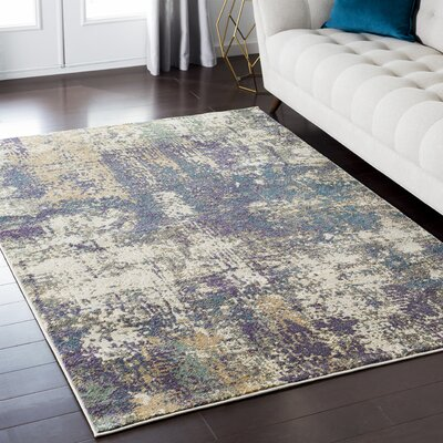 Enrique Purple/Brown/Beige Area Rug Rug Size: 67 x 96
