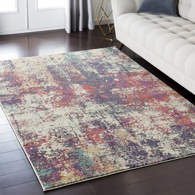 Camillei Purple/Pink Area Rug Rug Size: Rectangle 53 x 73