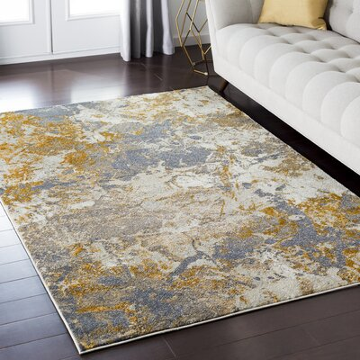 Enrique Orange/Brown Area Rug Rug Size: 53 x 73