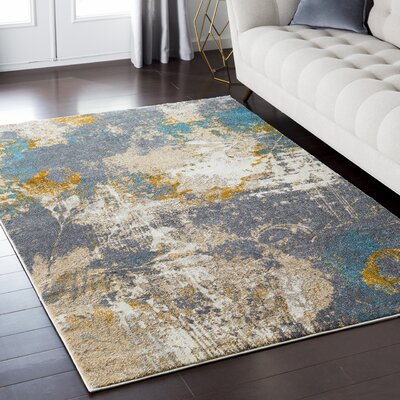 Chateau Gray/Brown Area Rug Rug Size: Rectangle 710 x 103