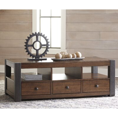 Ramona Rectangular Coffee Table with Magazine Rack