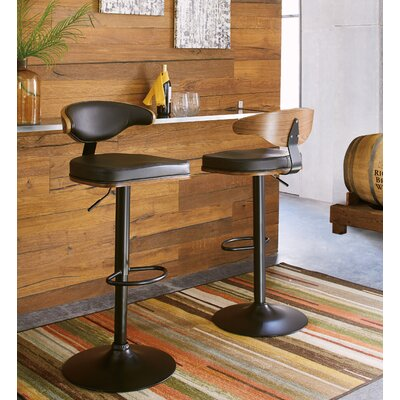 Brookline Adjustable Height Swivel Bar Stool