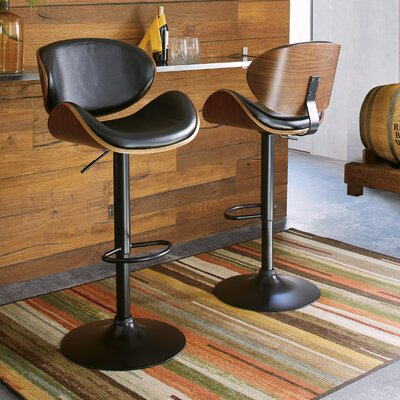 Morley Adjustable Height Swivel Bar Stool