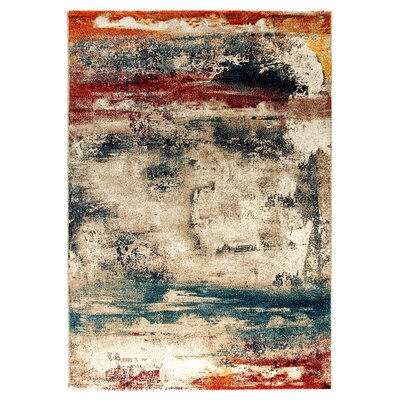 Cortland Blue/Gray/Red Area Rug Rug Size: Rectangle 710 x 1010