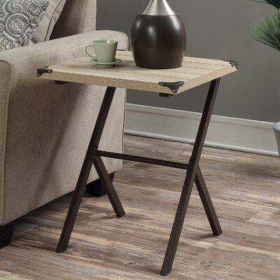 Kyra End Table Color: Weathered White