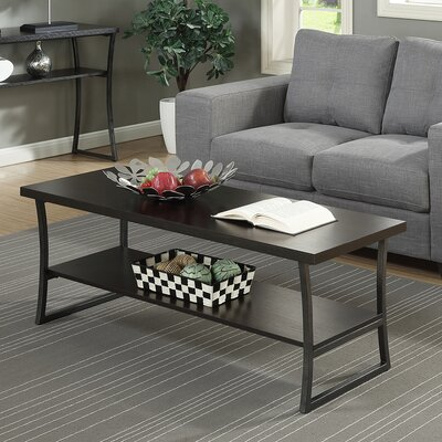 Lyon Coffee Table with Magazine Rack Finish: Espresso