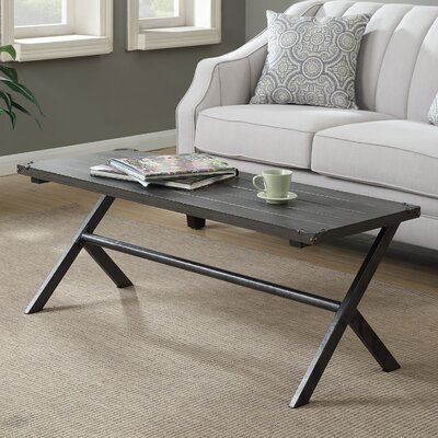 Kyra Coffee Table Color: Charcoal Gray