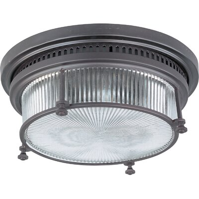 Ross 2-Light Flush Mount Finish: Bronze