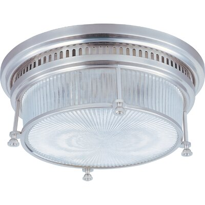Ross 2-Light Flush Mount Finish: Satin Nickel