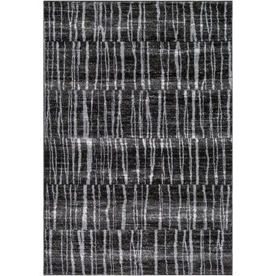 Kalyn Dark Brown/Black Area Rug Rug Size: 53 x 76
