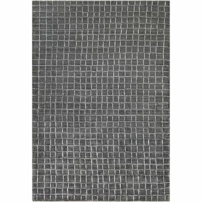 Landon Hand-Loomed Charcoal/White Area Rug Rug Size: Rectangle 6 x 9