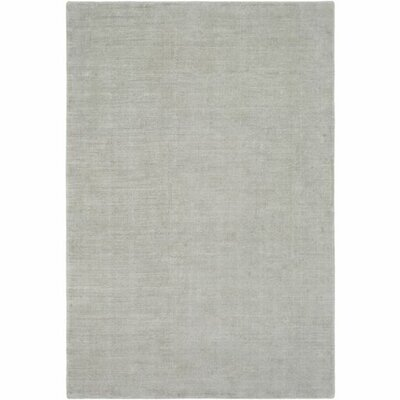 Lawrence Hand-Loomed Sea Foam/Ivory Area Rug Rug Size: 9 x 13