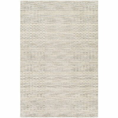 Alysa Hand-Loomed Cream/Light Gray Area Rug Rug Size: Rectangle 5 x 76