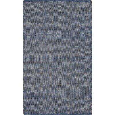 Hollis Hand-Woven Dark Blue/Wheat Area Rug Rug Size: 5 x 76