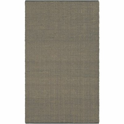 Kewanee Hand-Woven Charcoal/Wheat Area Rug Rug Size: Rectangle 5 x 76