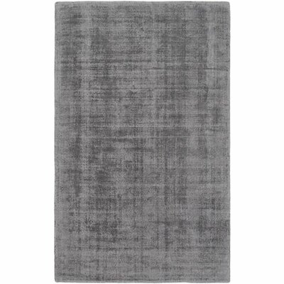 Lawrence Hand-Loomed Charcoal/Light Gray Area Rug Rug Size: Rectangle 9 x 13