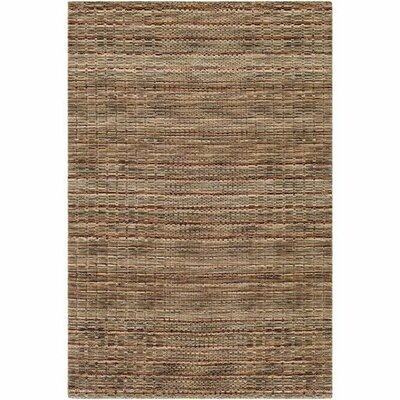 Alysa Hand-Loomed Cream/Khaki Area Rug Rug Size: Rectangle 5 x 76