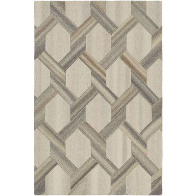 Ace Hand-Tufted Butter/Khaki Area Rug Rug Size: Rectangle 5 x 76