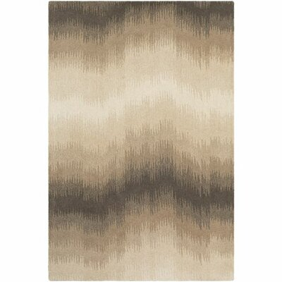 Agustin Hand-Tufted Camel/Cream Area Rug Rug Size: Rectangle 5 x 76