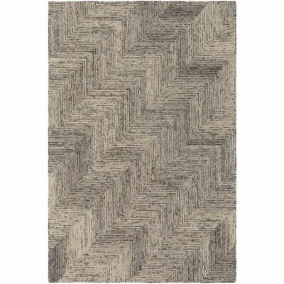 Ace Hand-Tufted Chevron Cream/White Area Rug Rug Size: 8 x 10