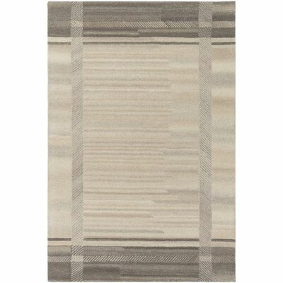 Ace Hand-Tufted Cream/White Wool Area Rug Rug Size: Rectangle 5 x 76