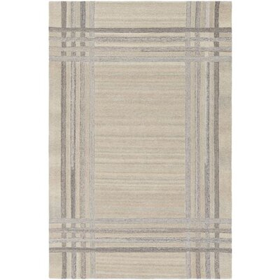 Ace Hand-Tufted Cream/White Area Rug Rug Size: 8 x 10