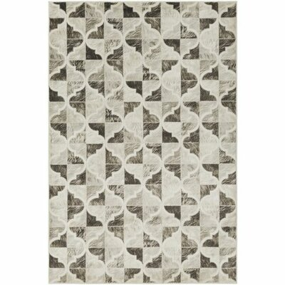 Caigan Dark Brown/Black Area Rug Rug Size: Rectangle 710 x 106