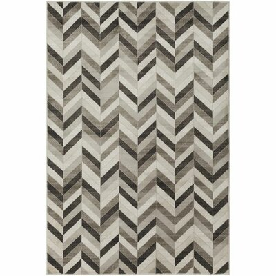 Staci Dark Brown/Khaki Area Rug Rug Size: 2 x 3