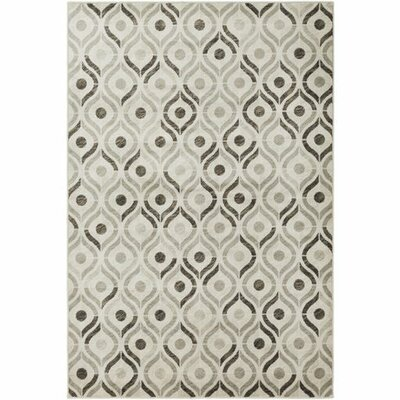 Caigan Dark Brown/Khaki Area Rug Rug Size: 53 x 76