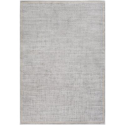 Kala Light Gray/Cream Area Rug Rug Size: 5 x 76