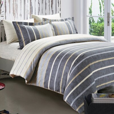 Callahan 5 Piece Duvet Set Size: King
