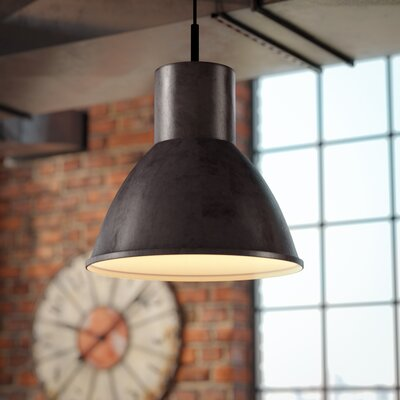 Cardwell 1 LED Integrated Bulb Bowl Pendant Finish: Burnt Sienna