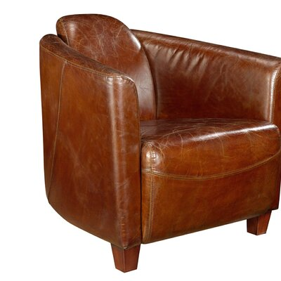 Kailey Leather Barrel Chair