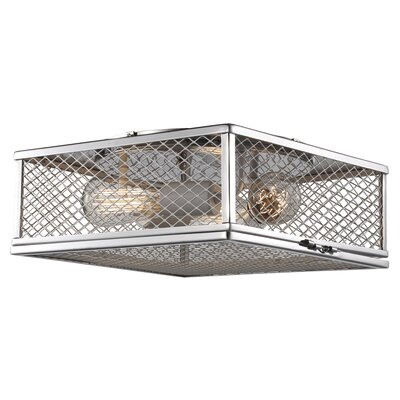 Dorian 3-Light Flush Mount Fixture Finish: Polished Chrome/White, Size: 5.25 H x 16 W x 16 D